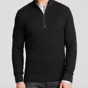 Men's Michael Kors black 1/4 zip cotton sweater